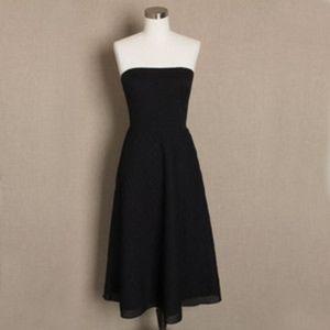 J Crew Strapless Black Dress